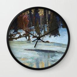 Maurice Cullen Winter Evening in the Laurentians Wall Clock