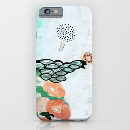 Flying trees by the pond iPhone Case