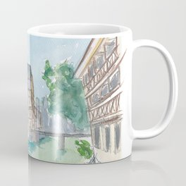 Strasbourg Petite France Water View and Old Houses Coffee Mug