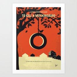 No844 My Mockingbird minimal movie poster Art Print