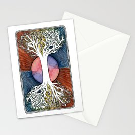 Astral Vibes Tarot Tree Stationery Cards