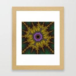 Fractal Orb Framed Art Print