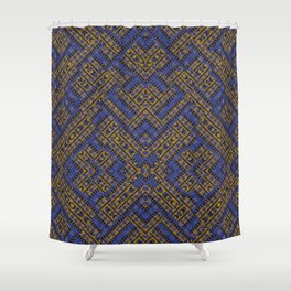 Blue Tribe Shower Curtain