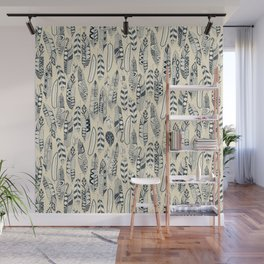 joyful feathers cream Wall Mural
