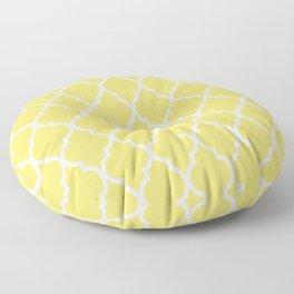 Classic Quatrefoil Lattice Pattern 731 Yellow Floor Pillow