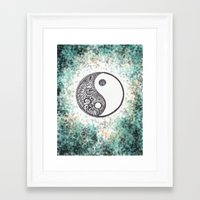 yin yang Framed Art Prints featuring Yin & Yang by Hope