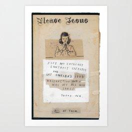 The Jesus Show Art Print