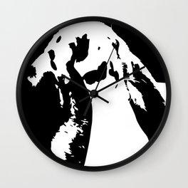 Black & White English Lop Wall Clock