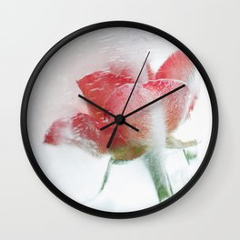Ice cold rose Wall Clock
