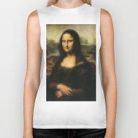 mona lisa Biker Tanks featuring Mona Lisa by Bilal