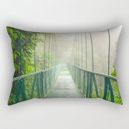 Suspension bridge in rainforest Rectangular Pillow