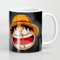 luffy Mugs featuring Luffy & Nose Sticks! by Orfik