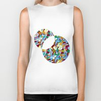 mozart Biker Tanks featuring Mozart abstraction by Laura Roode