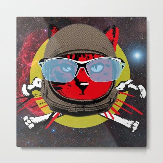 SpaceCatCommander Coody Metal Print
