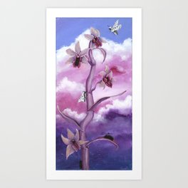 The Leopard Moth's Cattleya Art Print