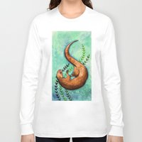 otter Long Sleeve T-shirts featuring Otter by Georgia Roberts