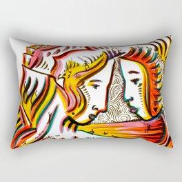 Original Art by Armando Renteria Rectangular Pillow