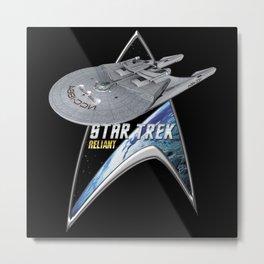 StarTrek Command Silver Signia Reliant Metal Print