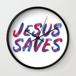 Jesus Saves Wall Clock