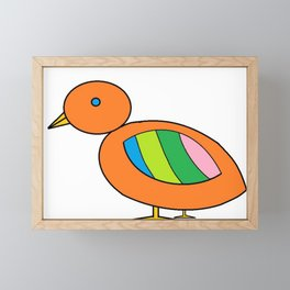 Orange Bird Framed Mini Art Print
