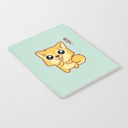 Kawaii Hachikō, the legendary dog (Green) Notebook