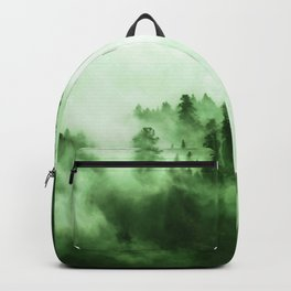 Clear away the fog to see the light. Green Backpack