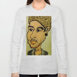 Young man with hat Long Sleeve T-shirt