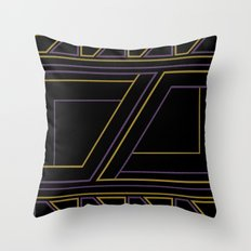 Geometry on black (abstract) Throw Pillow