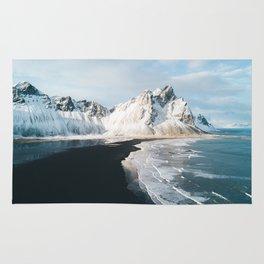 Iceland Mountain Beach - Landscape Photography Rug