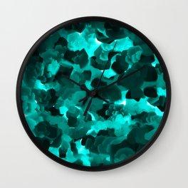 Clear Blue Fluidity Wall Clock