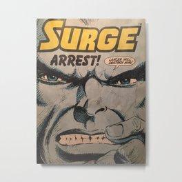 Arrest Surge Metal Print