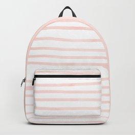 Seashell Pink Watercolor Stripes Backpack