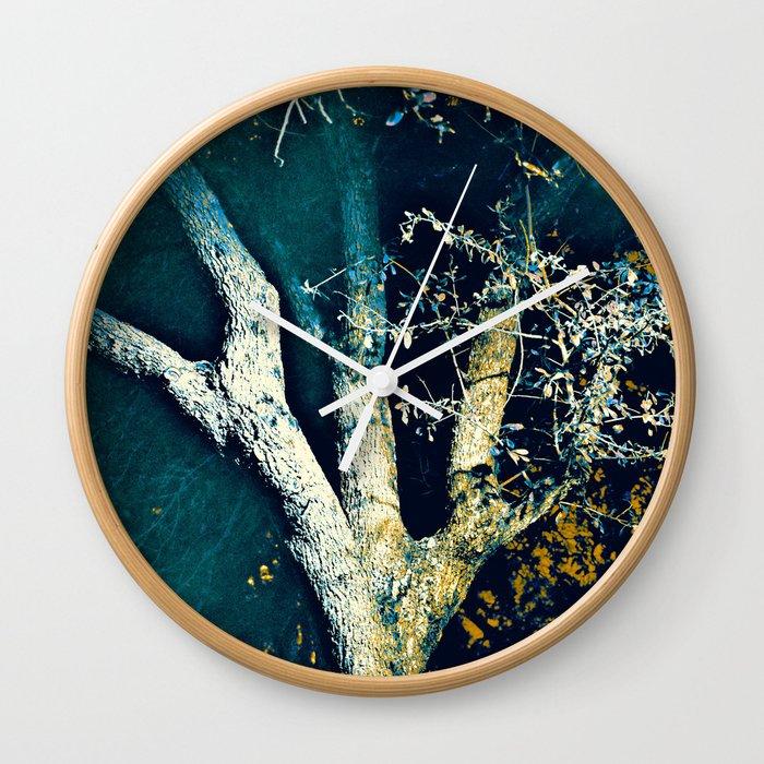 Night Tree Wall Clock