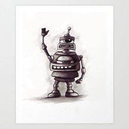 Robot Greetings Art Print