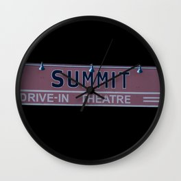 Summit Drive-In Theatre Wall Clock