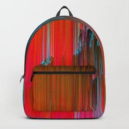 Nice Day for a Walk - Abstract Glitchy Pixel Art Backpack