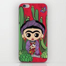 Frida in Cacti 2 iPhone Skin