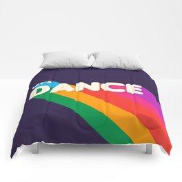 RAINBOW DANCE TYPOGRAPHY- let's dance Comforters