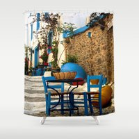 greece Shower Curtains featuring Greece #3 by lularound