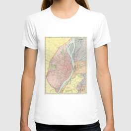 Vintage Map of St Louis MO (1897) T-shirt