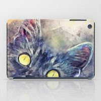 kitty iPad Cases featuring Kitty by jbjart