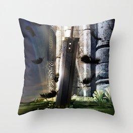 A Hero's sword Throw Pillow