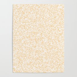 Tiny Spots - White and Sunset Orange Poster