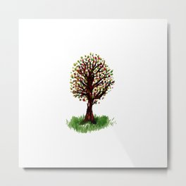 Grunge sketch of tree Metal Print