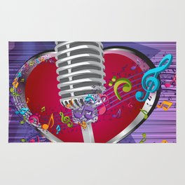 Music is from the heart Rug