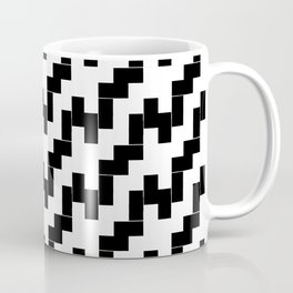 Symmetric patterns 139 black and white Coffee Mug