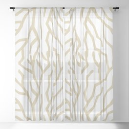 Golden Coral Sheer Curtain