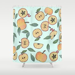 Apples watercolor Shower Curtain