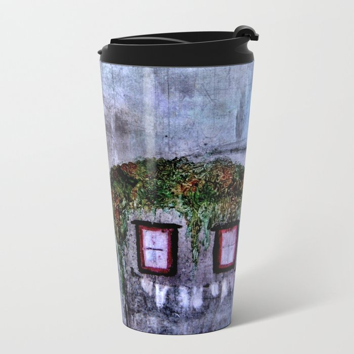 Houses in Milan in the evening Italy Metal Travel Mug