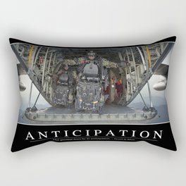 Anticipation: Inspirational Quote and Motivational Poster Rectangular Pillow